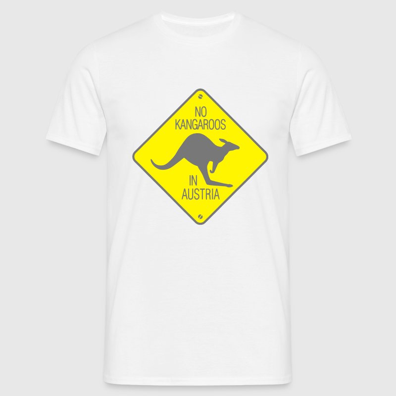 NO KANGAROOS IN AUSTRIA T-shirt - Men's T-Shirt
