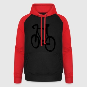 bike cycle cycling logo sport bicycle T-Shirts - Unisex Baseball Hoodie