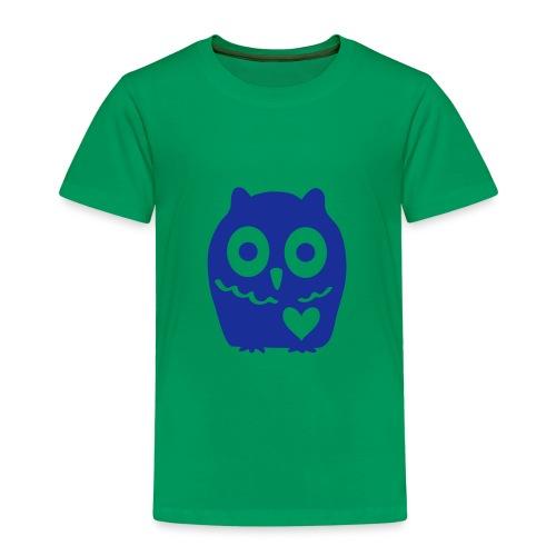 Uhu mit Herz - Kinder Premium T-Shirt