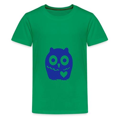 Uhu mit Herz - Teenager Premium T-Shirt