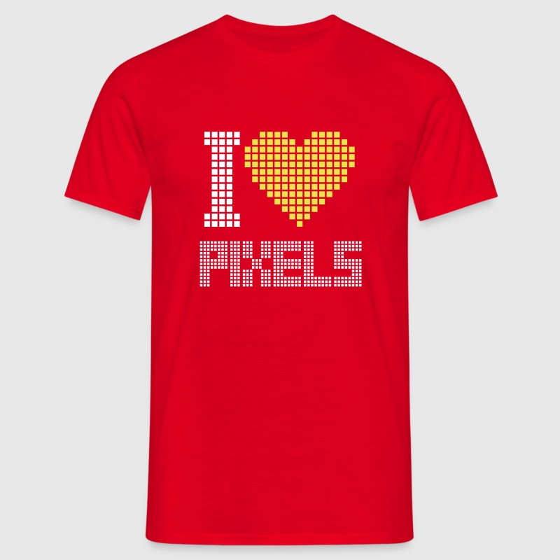 I Love Pixels T-Shirts - Men's T-Shirt
