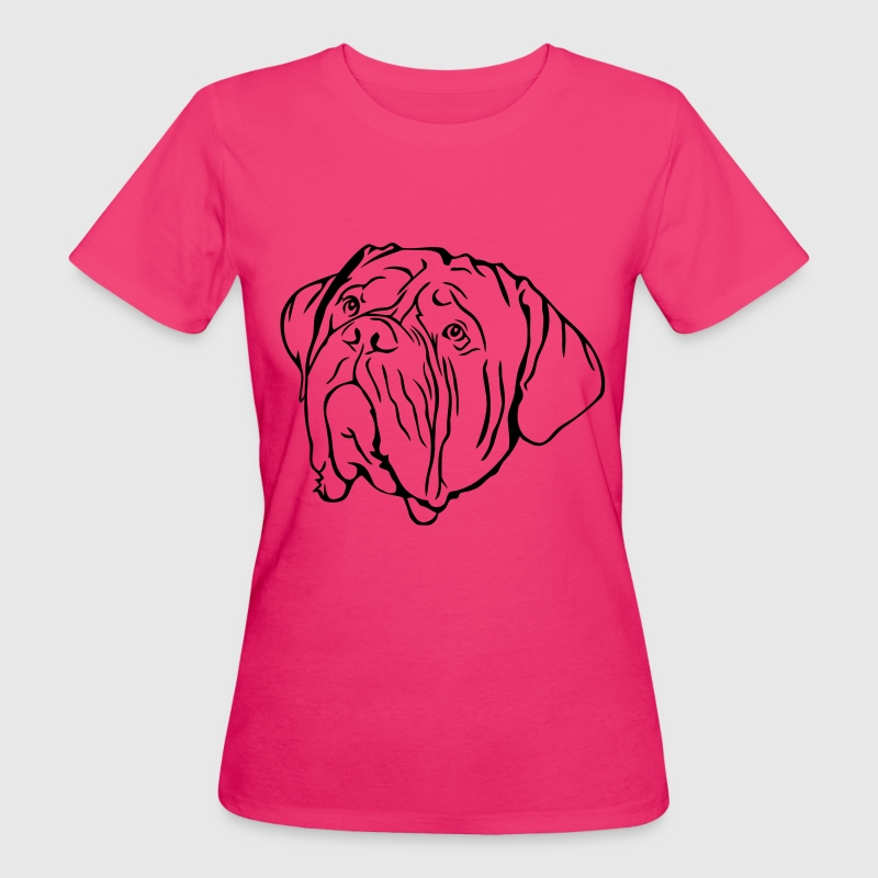 Head of Dogue de Bordeaux - Women's Organic T-shirt
