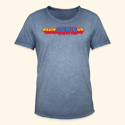 Bauingenieur, Superheld meets Goldjunge - Männer Vintage T-Shirt