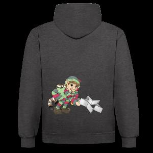 KinderShirt Weihnachtswichtel - Kontrast-Hoodie