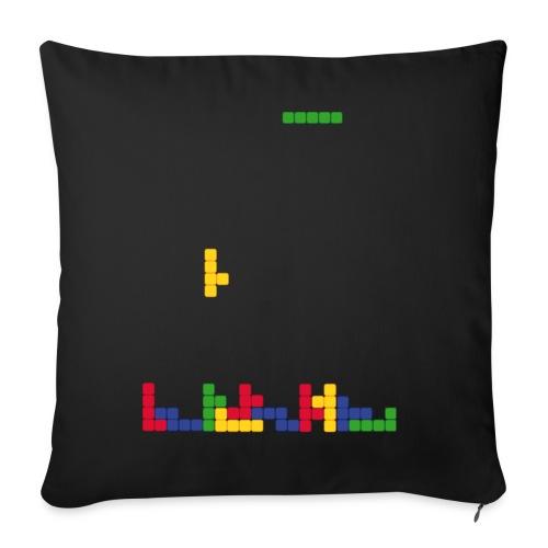 T-shirt Tetris - Housse de coussin décorative 44x 44cm