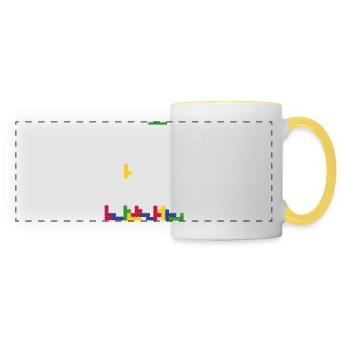 T-shirt Tetris - Mug panoramique contrasté et blanc