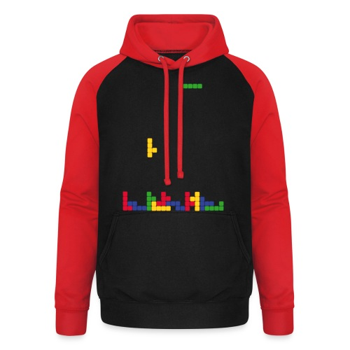 T-shirt Tetris - Sweat-shirt baseball unisexe