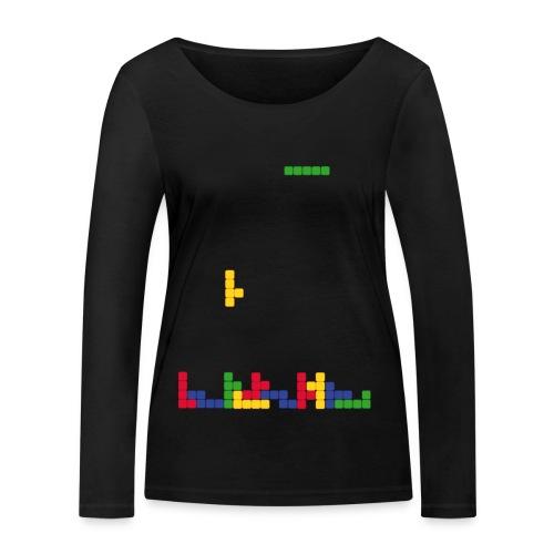 T-shirt Tetris - T-shirt manches longues bio Stanley & Stella Femme