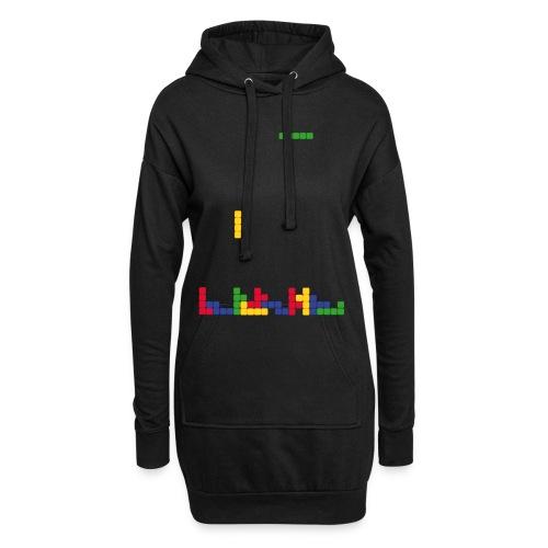 T-shirt Tetris - Sweat-shirt à capuche long Femme