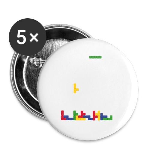 T-shirt Tetris - Lot de 5 grands badges (56 mm)