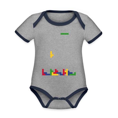 T-shirt Tetris - Body Bébé bio contrasté manches courtes