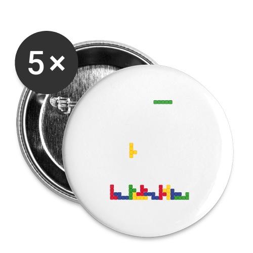 T-shirt Tetris - Lot de 5 moyens badges (32 mm)