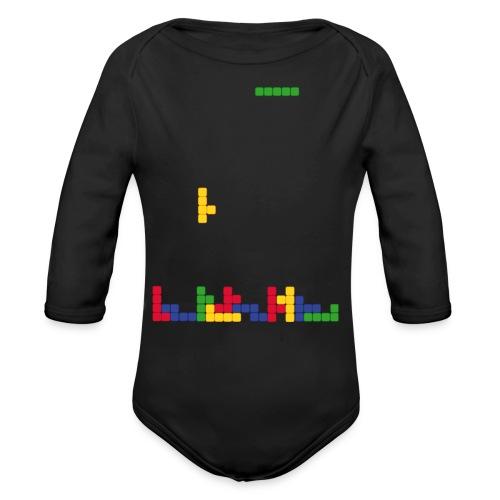 T-shirt Tetris - Body bébé bio manches longues