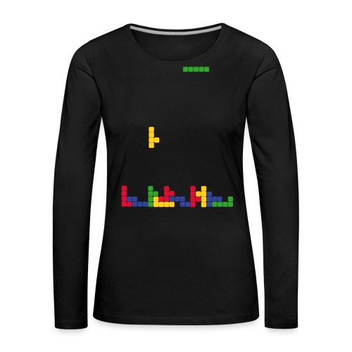 T-shirt Tetris - T-shirt manches longues Premium Femme