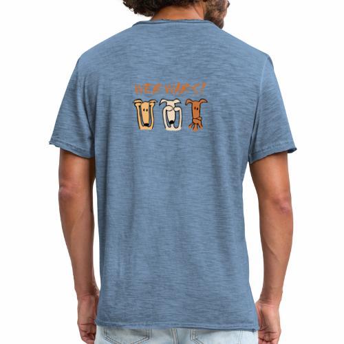 Wer war's? - Männer Vintage T-Shirt
