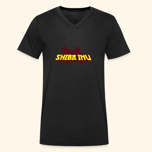 Shiba Inu, Mütze - Männer Bio-T-Shirt mit V-Ausschnitt von Stanley & Stella