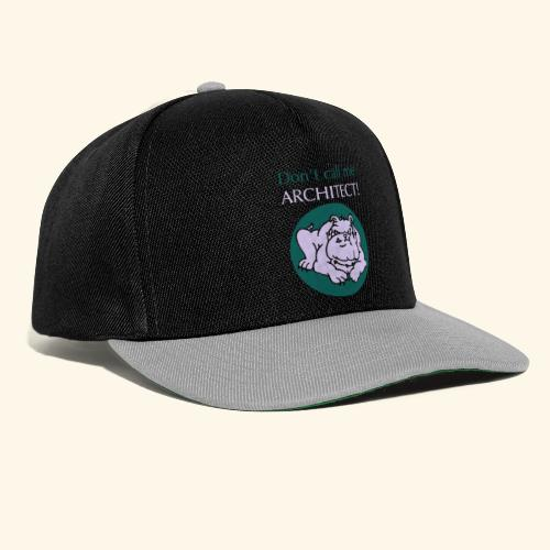 Don't call me architect!, Bulldog, bicolor - Snapback Cap