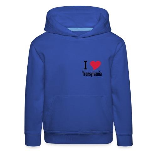 T-Shirt I love Transylvania Siebenbürgen, Rumänien, Dracula - Kinder Premium Hoodie