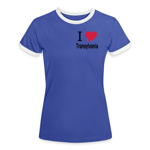 T-Shirt I love Transylvania Siebenbürgen, Rumänien, Dracula - Frauen Kontrast-T-Shirt