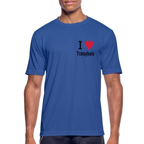 T-Shirt I love Transylvania Siebenbürgen, Rumänien, Dracula - Männer T-Shirt atmungsaktiv
