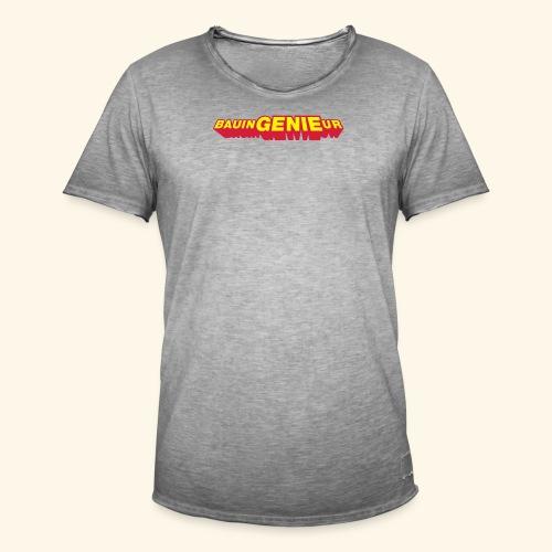 BauinGENIEur, Kaffeebecher - Männer Vintage T-Shirt