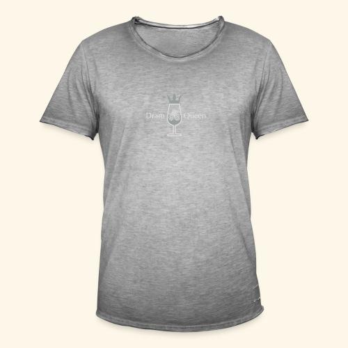 Dram Queen, Button - Männer Vintage T-Shirt