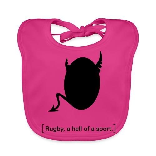 Männer T-Shirt Motiv: A hell of a sport! - Baby Bio-Lätzchen