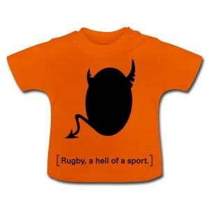 Männer T-Shirt Motiv: A hell of a sport! - Baby T-Shirt