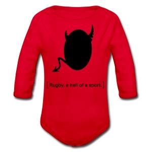 Männer T-Shirt Motiv: A hell of a sport! - Baby Bio-Langarm-Body