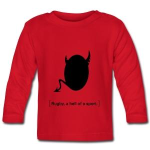 Männer T-Shirt Motiv: A hell of a sport! - Baby Langarmshirt
