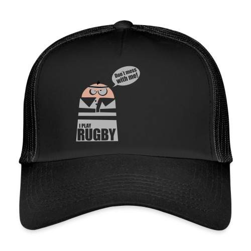 Männer T-Shirt Motiv: I play Rugby - Trucker Cap
