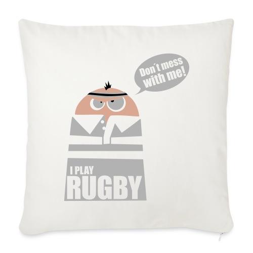 Männer T-Shirt Motiv: I play Rugby - Sofakissenbezug 44 x 44 cm