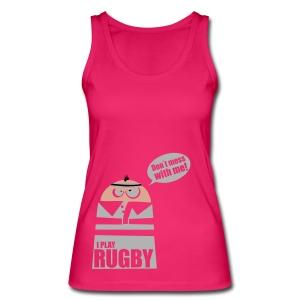 Männer T-Shirt Motiv: I play Rugby - Frauen Bio Tank Top von Stanley & Stella