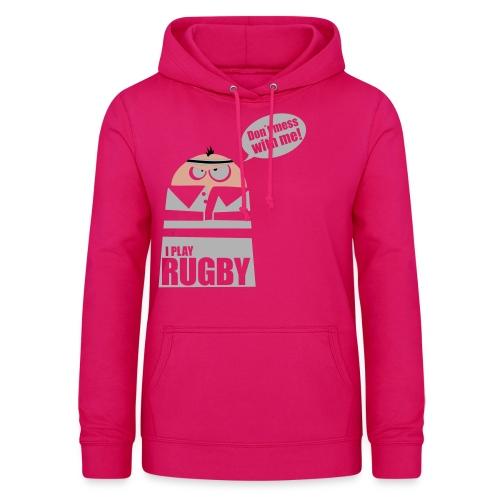 Männer T-Shirt Motiv: I play Rugby - Frauen Hoodie
