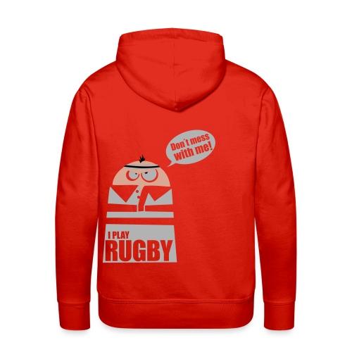 Männer T-Shirt Motiv: I play Rugby - Männer Premium Hoodie