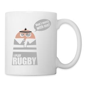 Männer T-Shirt Motiv: I play Rugby - Tasse