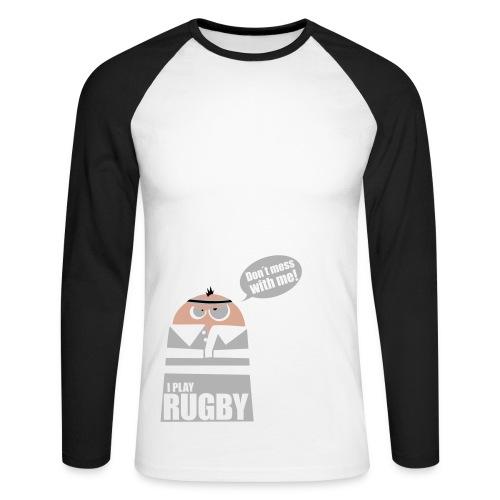 Männer T-Shirt Motiv: I play Rugby - Männer Baseballshirt langarm