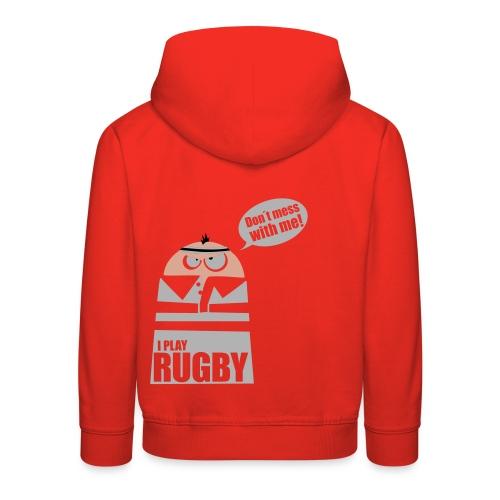 Männer T-Shirt Motiv: I play Rugby - Kinder Premium Hoodie