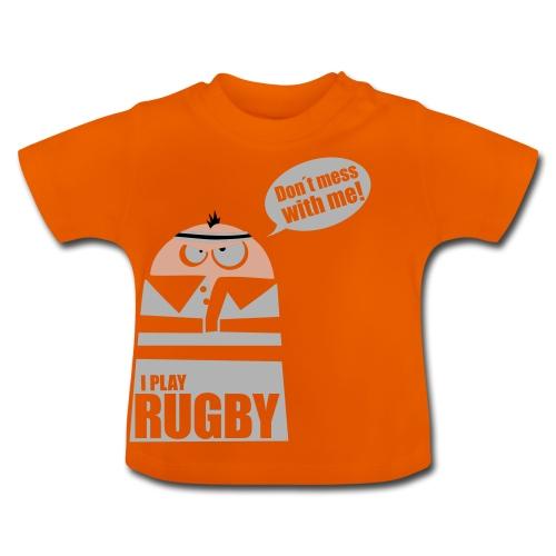 Männer T-Shirt Motiv: I play Rugby - Baby T-Shirt