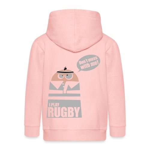 Männer T-Shirt Motiv: I play Rugby - Kinder Premium Kapuzenjacke
