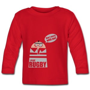 Männer T-Shirt Motiv: I play Rugby - Baby Langarmshirt