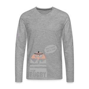 Männer T-Shirt Motiv: I play Rugby - Männer Premium Langarmshirt