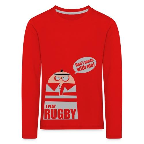 Männer T-Shirt Motiv: I play Rugby - Kinder Premium Langarmshirt