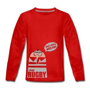 Männer T-Shirt Motiv: I play Rugby - Teenager Premium Langarmshirt
