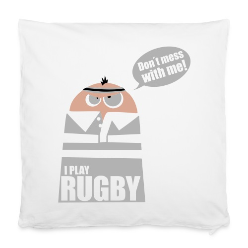 Männer T-Shirt Motiv: I play Rugby - Kissenbezug 40 x 40 cm