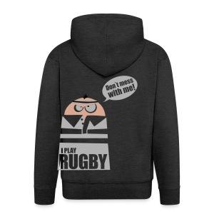 Männer T-Shirt Motiv: I play Rugby - Männer Premium Kapuzenjacke