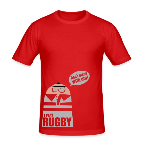 Männer T-Shirt Motiv: I play Rugby - Männer Slim Fit T-Shirt