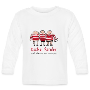Männer Baseballshirt Motiv: Dicke Kinder - Baby Langarmshirt