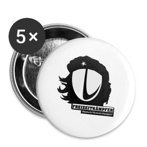 Männer T-Shirt Motiv: Freizeitkämpfer - Buttons groß 56 mm