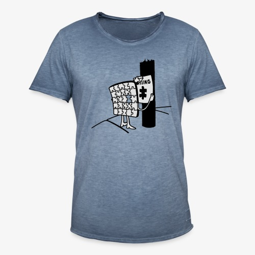 Puzzle Missing, Vermißt ein stück seiner selbst Pullover - Männer Vintage T-Shirt